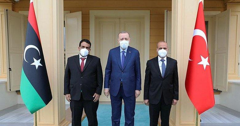 Başkan Erdoğan Vahdettin Köşkü'nde Libya heyetini kabul etti!