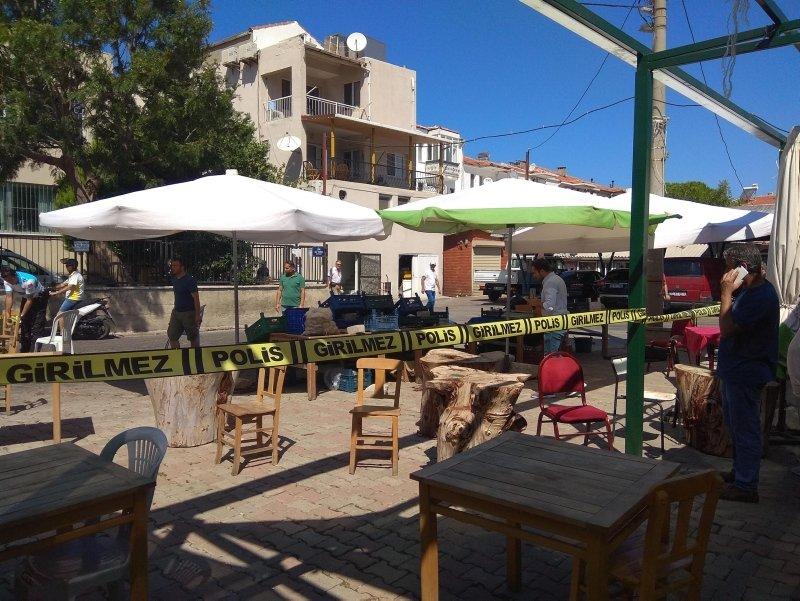 İzmir Foça'da kafeterya sahibine silahlı saldırı
