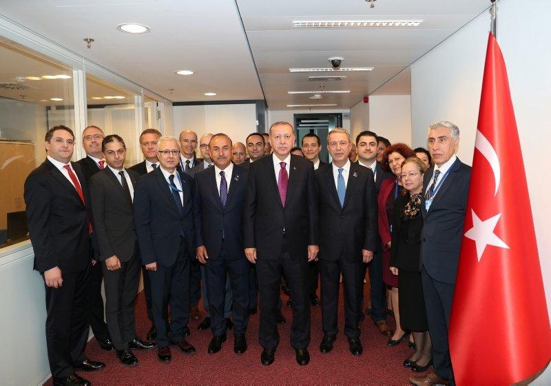 Başkan Erdoğan, Türkiye'nin NATO Daimi Temsilciliğinin açılışını yaptı