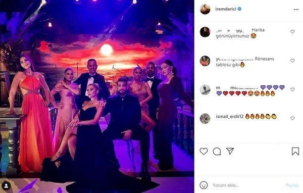 Ünlü şarkıcı İrem Derici'den Ece Seçkin'in düğününe damga vuran o kare!