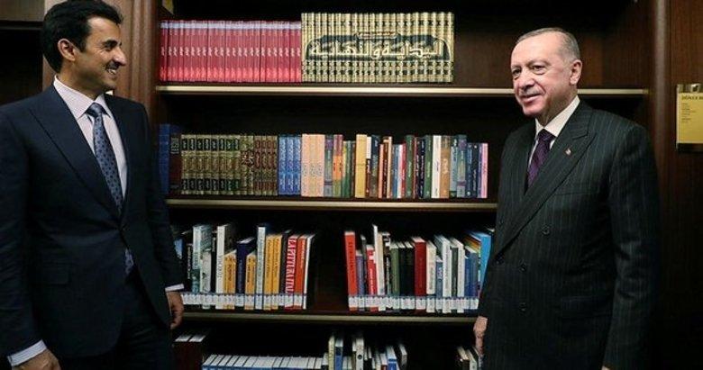 Başkan Erdoğan ve Katar Emiri Al Sani Millet Kütüphanesi'ni gezdi