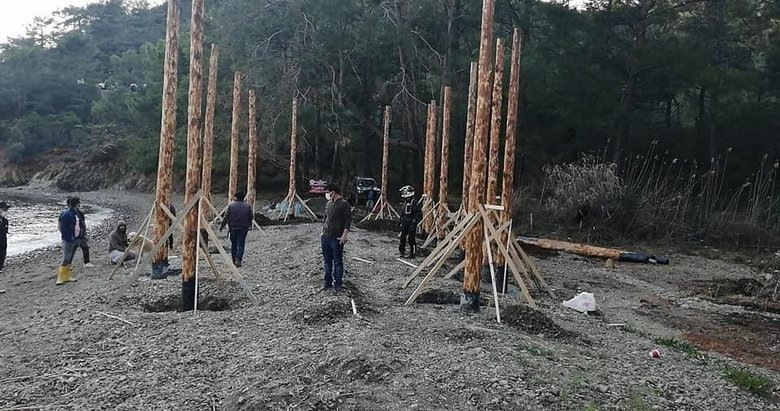 Fethiye'deki koyda kaçak yapılaşmaya inceleme başlatıldı