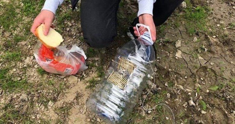 Pet şişeyle kilolarca balık avlıyor! İşte o ilginç yöntem