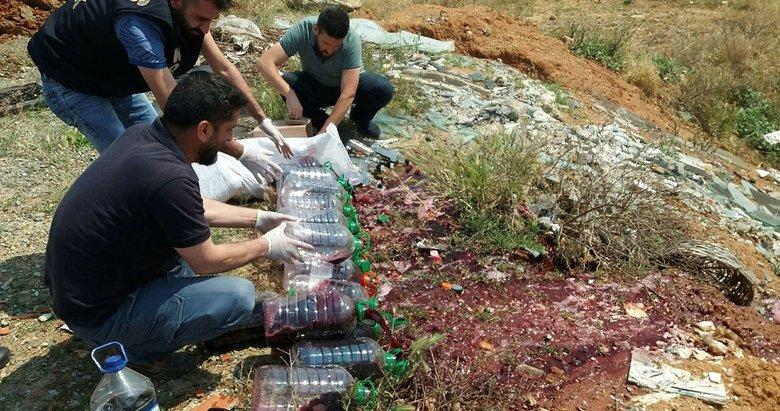 Uşak'ta operasyonlarda yakalanan kaçak ürünler imha edildi