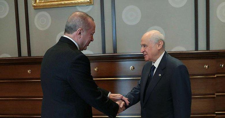 Başkan Erdoğan ile Bahçeli'nin kritik görüşmesi sona erdi