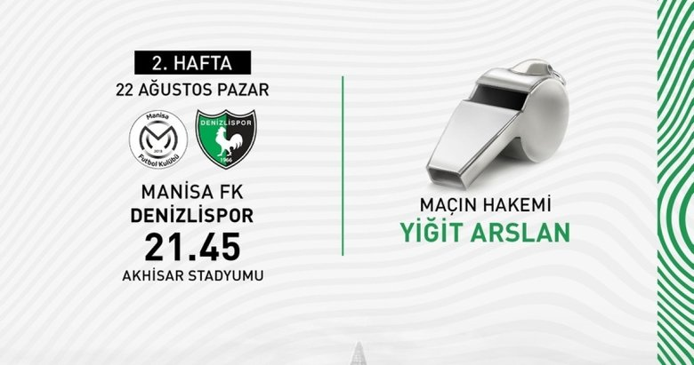 Manisa FK - Denizlispor maçının hakemi belli oldu