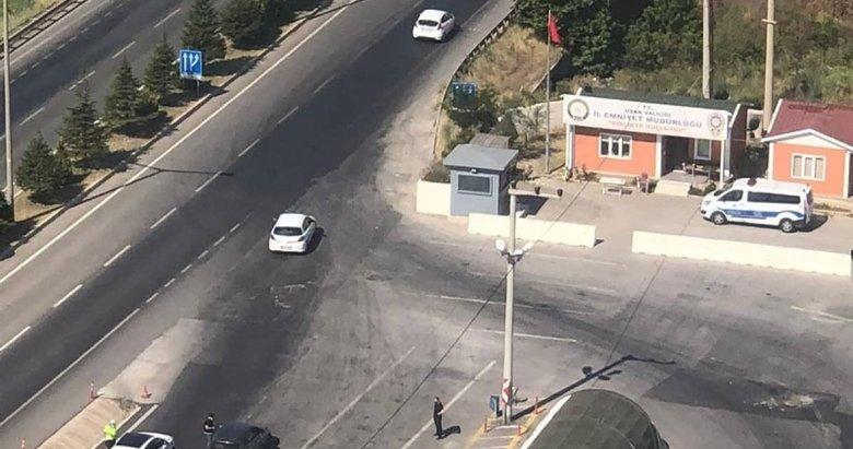 Uşak'ta bayram trafiği havadan denetlendi