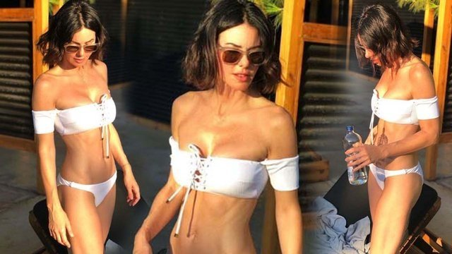 Defne Samyelinin bikinili pozuna kızı Derin Taludan cevap!