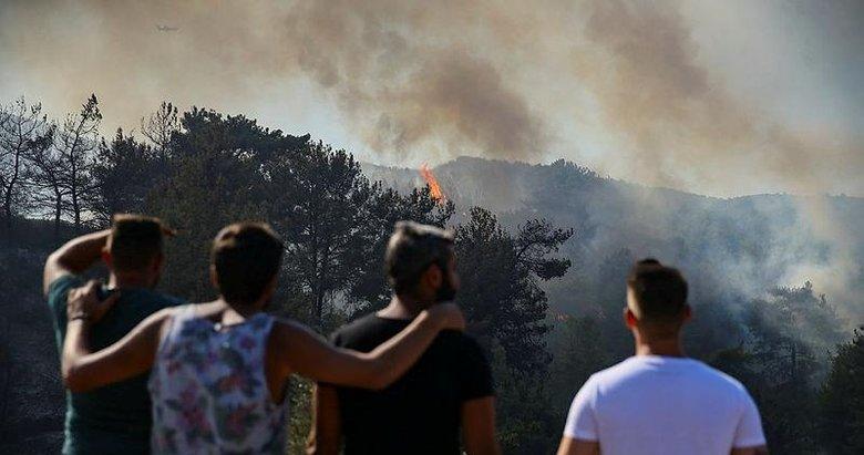 Menderes'te yangın dehşeti: 'Tam evimiz yanacaktı uçaklar geldi'