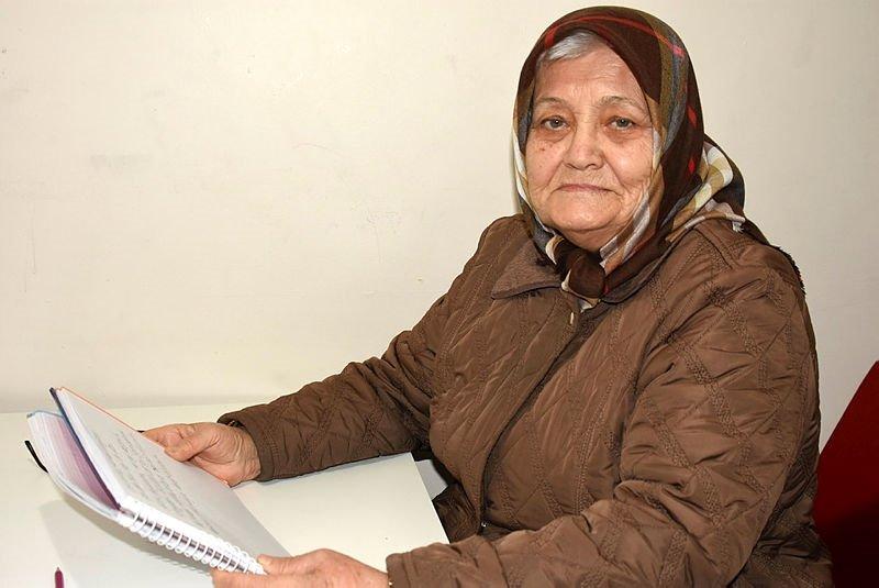 Çanakkale'de Cemile Çalışkan, 84'ünde okuma yazma öğrendi hedefi üniversite
