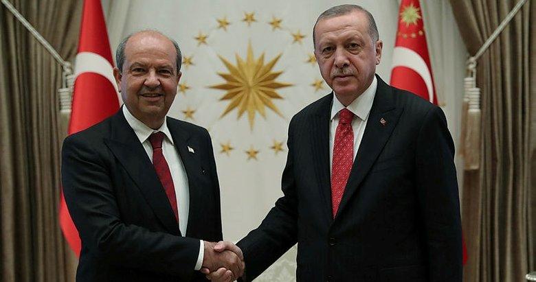 Başkan Erdoğan KKTC Başbakanı Ersin Tatar'ı kabul etti