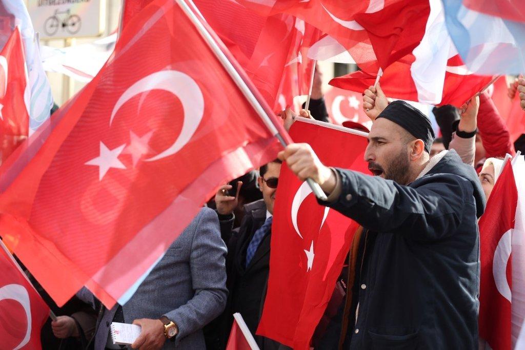 Başkan Erdoğan'a Belçika'da sevgi seli
