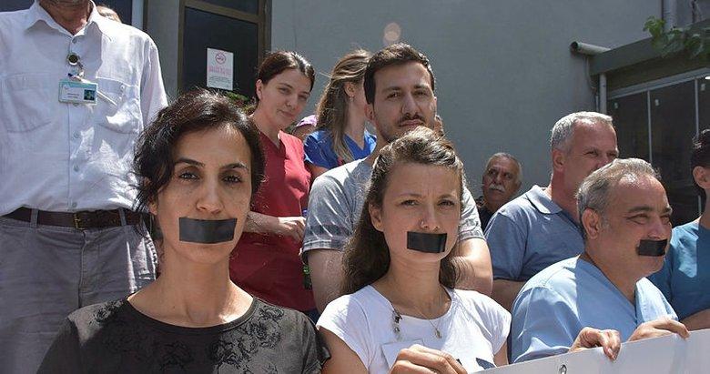 İzmir'de sağlık çalışanlarına şiddete meslektaşlarından tepki