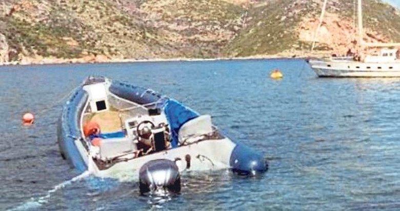 Tekne çarptı eroin göründü!