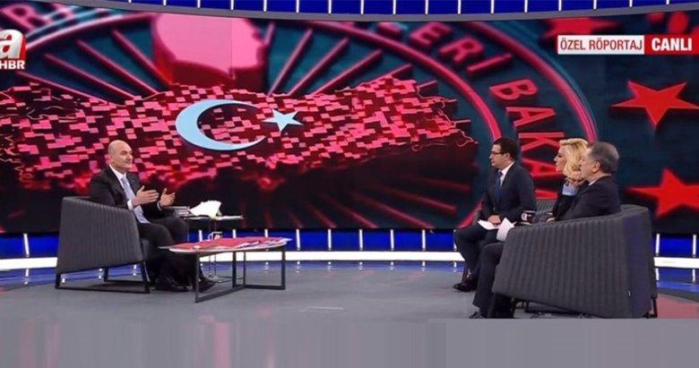 İçişleri Bakanı Süleyman Soylu'dan A Haber canlı yayınında önemli açıklamalar