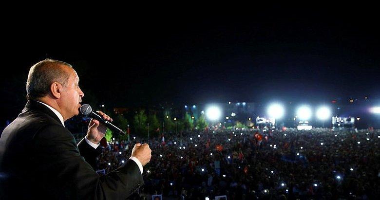 Başkan Erdoğan: 15 Temmuz ruhu hiç sönmeyecek!