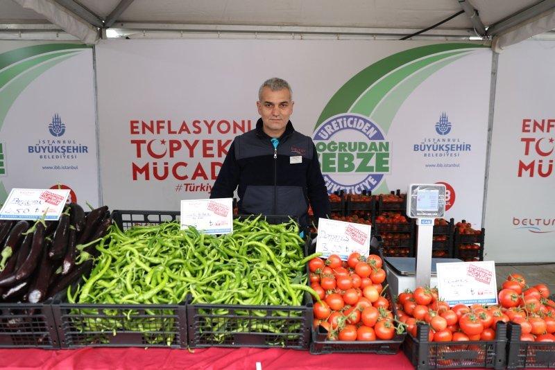 Tanzim noktalarında 297,7 ton sebze satıldı! Rekor domatesin oldu