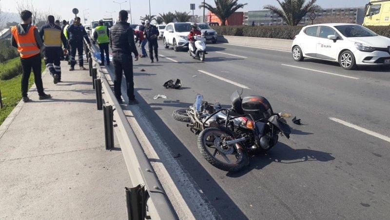 İzmir Konak'ta hafriyat kamyonunun altında kalan motosikletli öldü