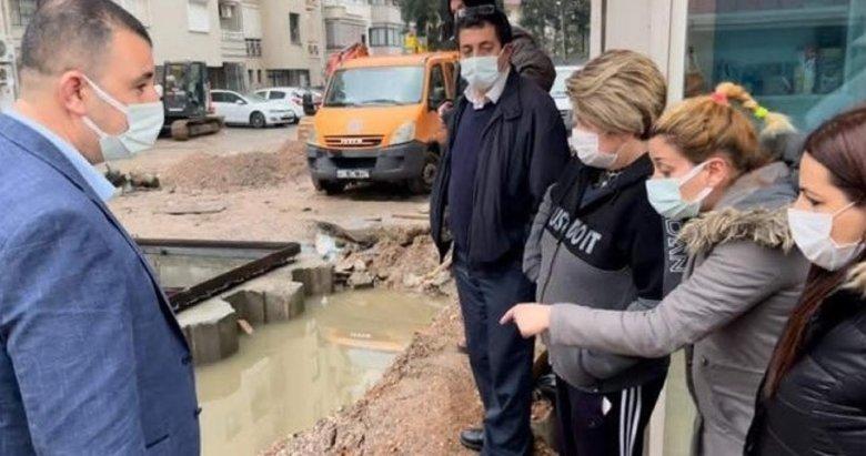 Konak'ta şehrin göbeğine yapılan foseptik çukuruna tepki