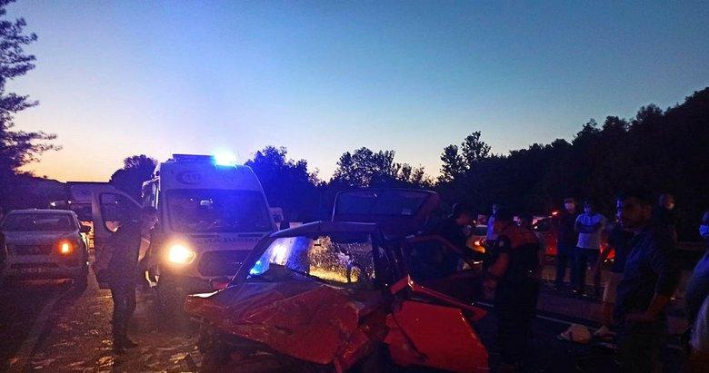 Muğla'da feci kaza! Araçlar hurdaya döndü