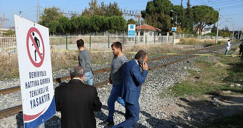 Manisa'da trenin çarptığı yaşlı adam ağır yaralandı