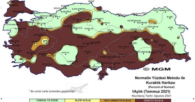 Meteoroloji'den korkutan harita! Ege'nin o illerinde kuraklık tehlikesi