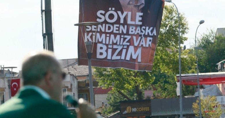 Konya'da anlamlı pankart: 'Söyle senden başka kimimiz var bizim'