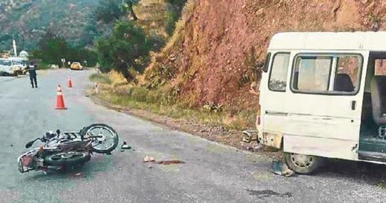 Motosiklet kazalarında 1 kişi öldü 2 kişi yaralandı