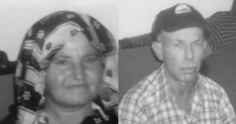 Yaşlı çifti oğulları öldürmüş