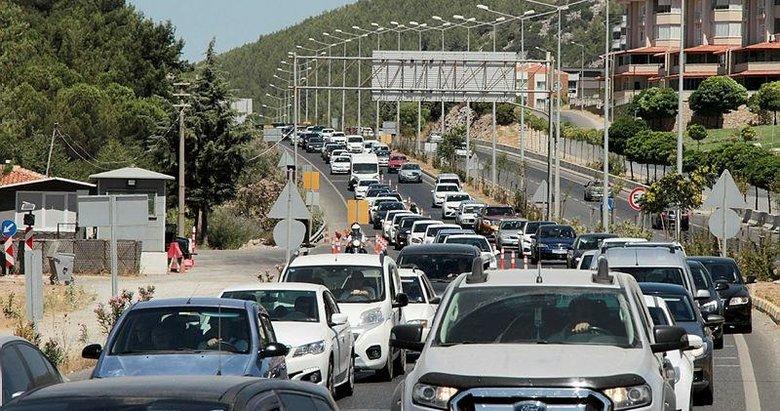 Muğla'nın turistik ilçelerine 333 bin araç girişi oldu