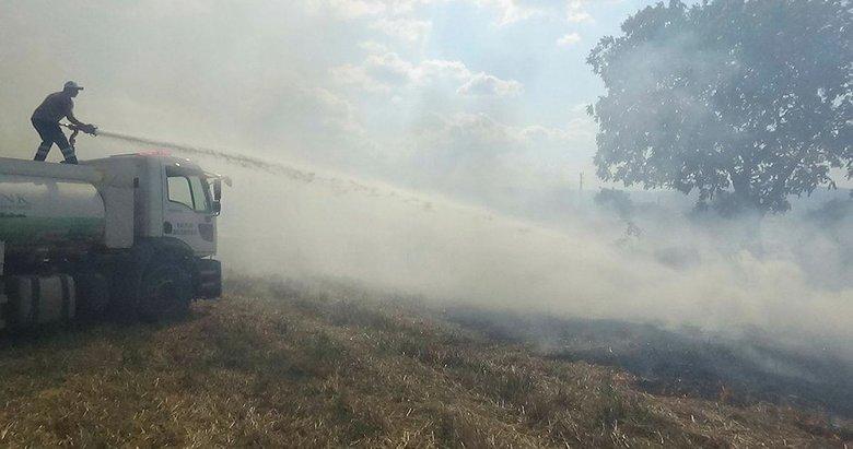 Kazdağları'nın eteklerindeki arazi yangını korkuttu