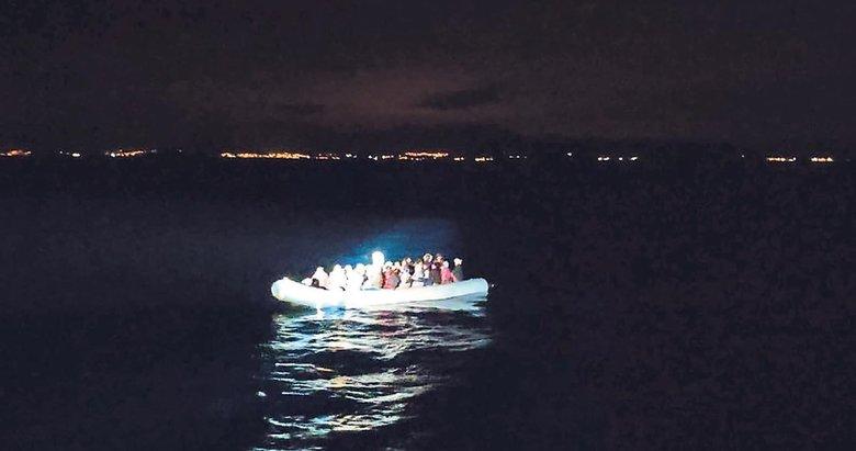 Göçmenlere Türk askerinden yardım eli
