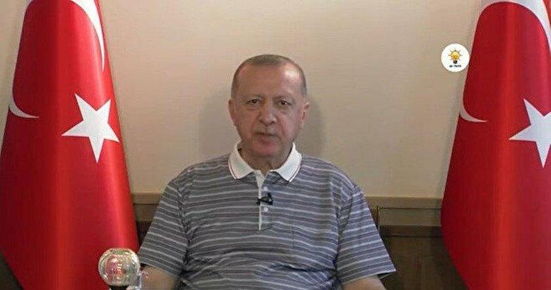 Başkan Erdoğan AK Parti teşkilatları ile bayramlaştı