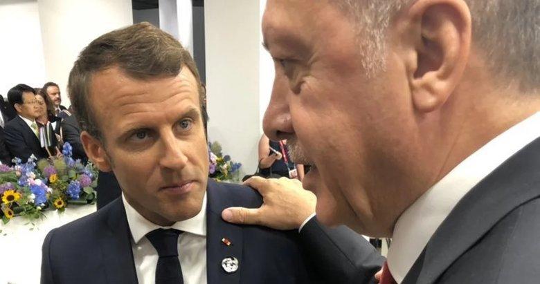 Başkan Erdoğan Fransa Cumhurbaşkanı Macron ile görüştü