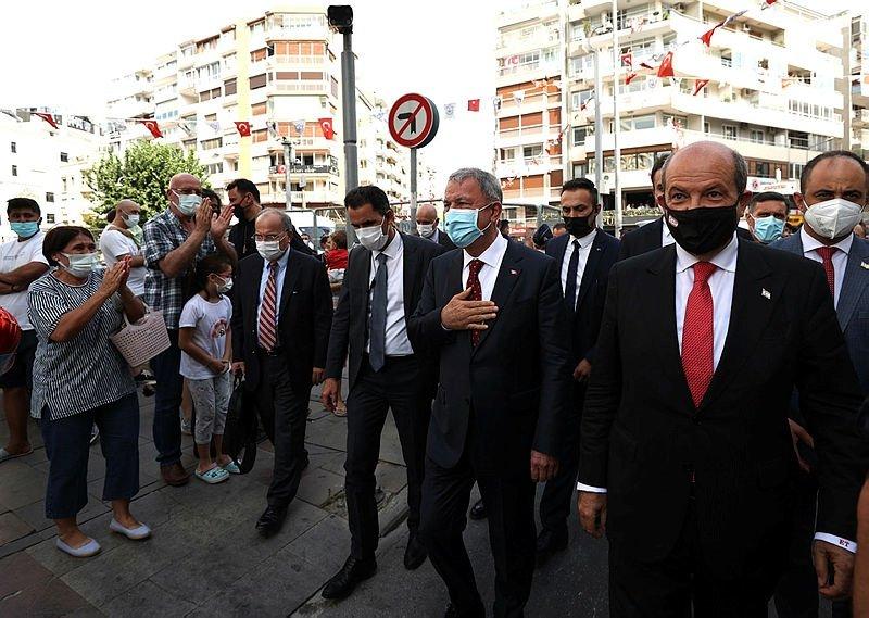 KKTC Cumhurbaşkanı Tatar ve Milli Savunma Bakanı Akar, İzmir Airshowu izledi