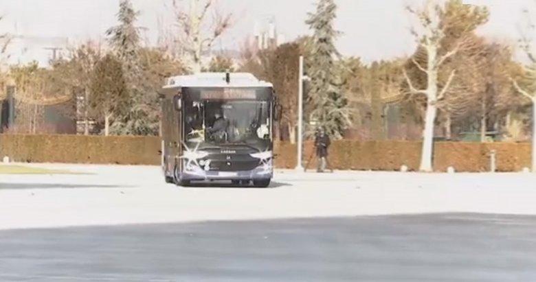 Son dakika: Elektrikli sürücüsüz otobüs tanıtıldı! İlk konuğu Başkan Erdoğan