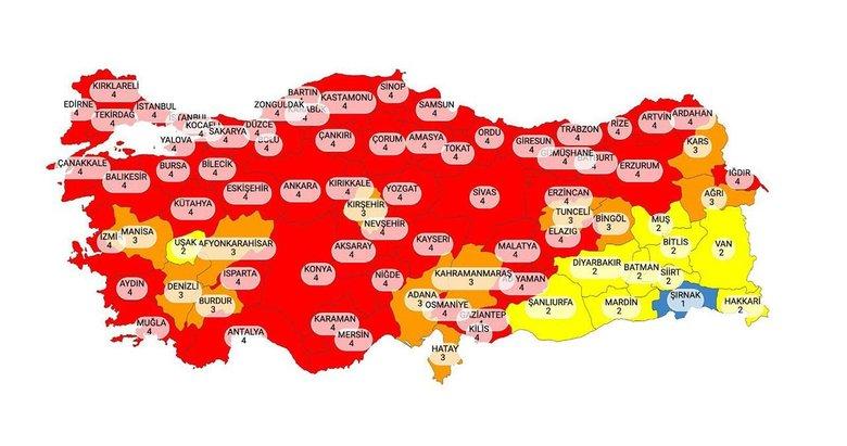 Risk haritası yayınlandı! Kırmızı iller hangisi? İzmir hangi kategoride?