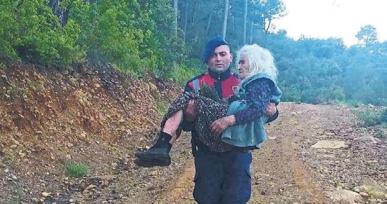 Kaybolduğu ormanda 7 saat sonra bulundu