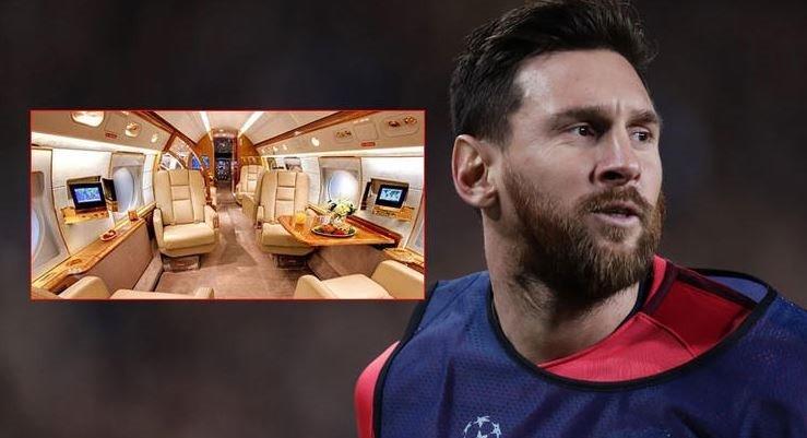 İşte Barcelona'nın yıldız futbolcusu Messi'nin uçağı..