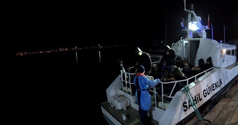 Yunan Sahil Güvenlik ekipleri botlarını patlattı! Ayvalık'ta 34 düzensiz göçmen kurtarıldı
