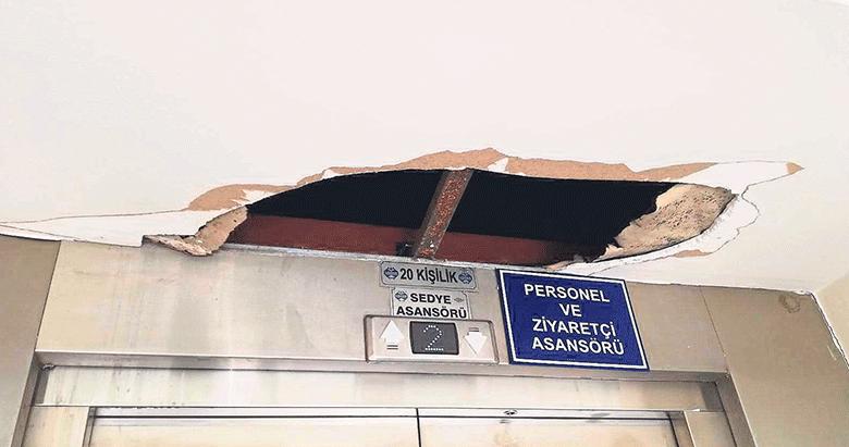 Çöken tavan isyan ettirdi