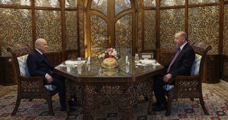 Başkan Erdoğan ve Devlet Bahçeli iftar yemeğinde buluştu