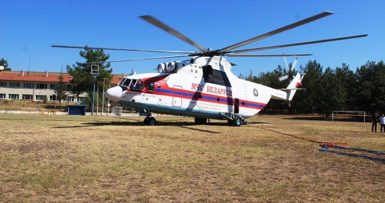 Dünyanın en büyük yangın söndürme helikopteri Muğla'da gece gündüz nöbette