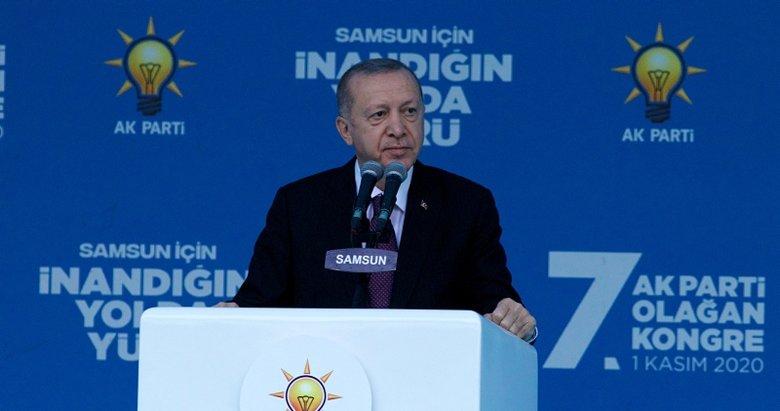 Başkan Erdoğan'dan Samsun'da önemli açıklamalar
