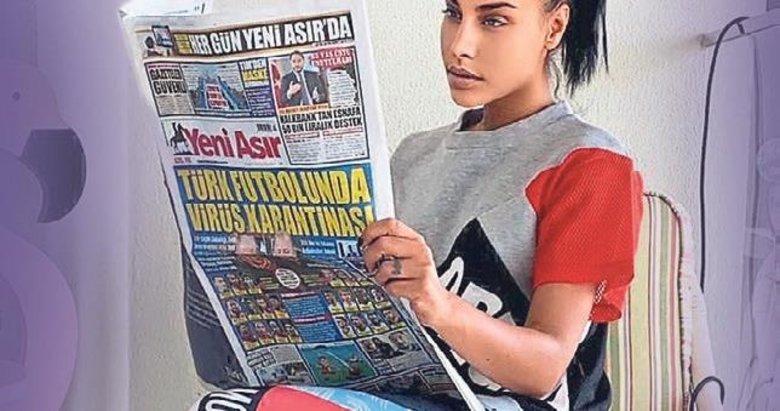 Evdeyim gazetemi okuyorum