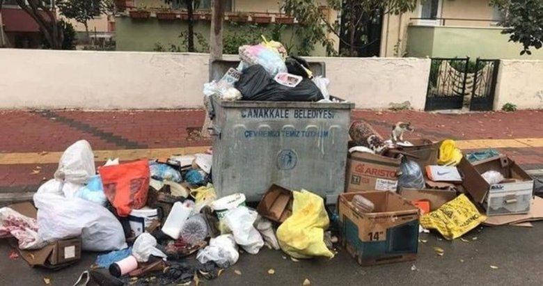 Çöpleri toplamayan CHP'li belediyenin açıklaması 'pes' dedirtti