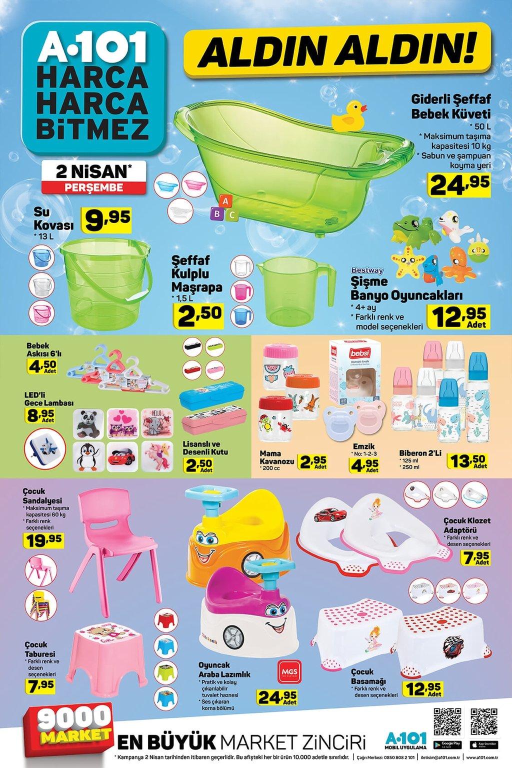 A101 aktüel ürünler kataloğu 2 Nisan Perşembe! İşte haftanın indirimleri...