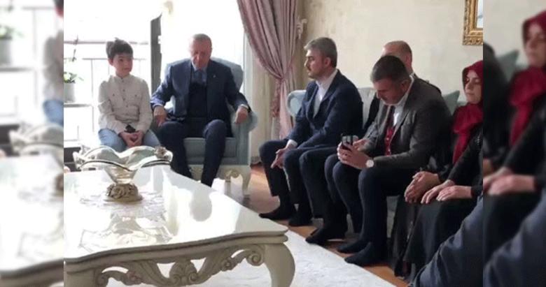 Başkan Erdoğan'dan avukatı Hüseyin Aydın'a taziye ziyareti