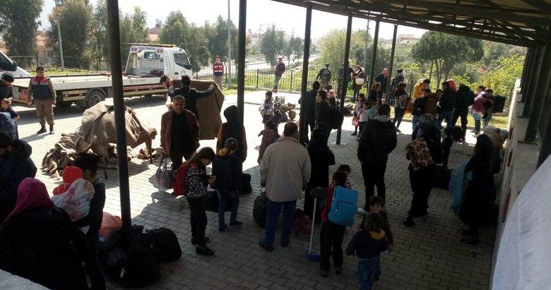 Foça'da Suriyeli 91 kaçak ile 3 organizatör yakalandı