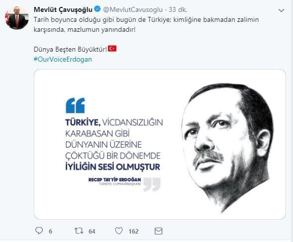 Başkan Erdoğan'ın BM'deki tarihi konuşmasına destek